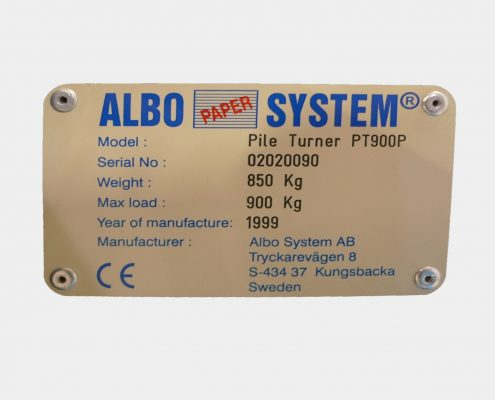ALBO PILE TURNER PT 900 - YEAR 1999-1